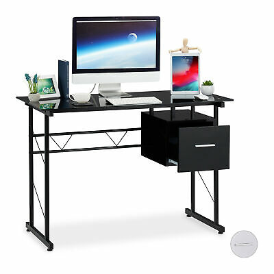 Glass Desk Computer Table PC Office Desk Bedroom Desk Workstation