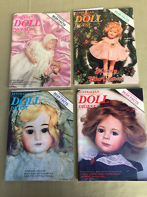 AUSTRALIAN DOLL DIGEST 4 Magazines No. 41, 42, 43, 44 with Paper Doll Cut Outs