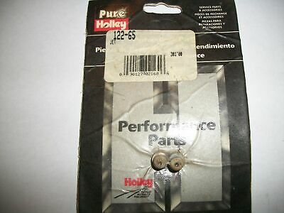 "Holley 122-65 Carburetor Standard Main Jet 1//4-32 Thread .065/"" Jet Card of 2"
