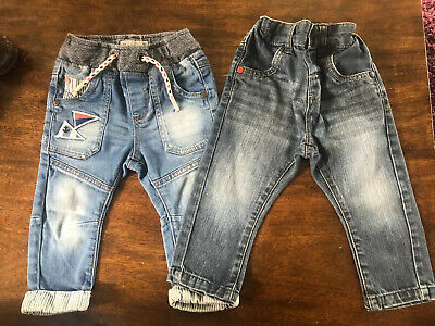 X2 Pairs Of Baby Boys Next Jeans 9-12 Mths