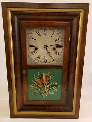 Antique Working 1860's Miniature Waterbury Clock Co. OGEE OG Mantel Shelf Clock