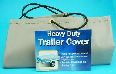 Heavy Duty Trailer Cover with Bungee Cord for Erde 102 Daxara 107  #68101