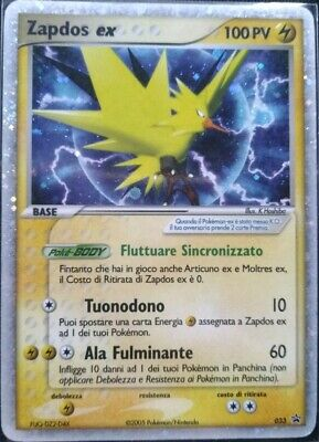 Zapdos EX 033 Promo Black Star - Carta Pokémon