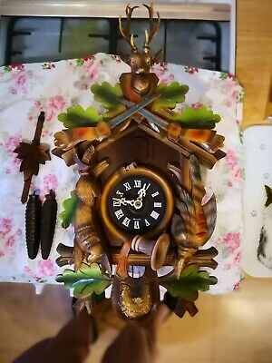 Vintage Hunters Cuckoo Clock Spares Or Repairs