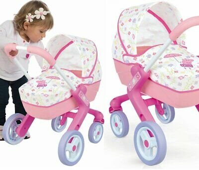 Peppa Pig Girl Dolls Pram Toy Buggy Perfect Gift Swivel wheels