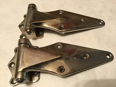 Kason Hardware set of freezer/cooler  door hinges forged  solid brass_______A-92