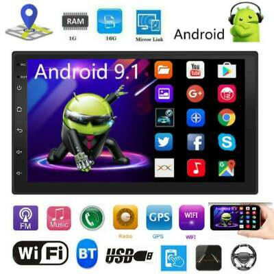 """2DIN 7"""" Android 9.1 Car Stereo MP5 Player GPS BT WiFi Speed Display USB FM Radio"""