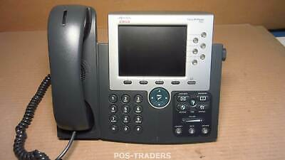 "Cisco Unified 7965G 7965 CP-7965G 6-line VoIP 5"" Telephone Phone - INCL HANDSET"