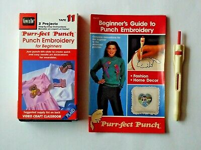 Purr-Fect (Perfect) Punch Medium Embroidery Needle, Instruction Book & Vcr