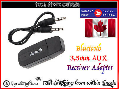 Wireless Bluetooth 3.5 mm AUX Audio Stereo Music Home Car Receiver Adapter Mic