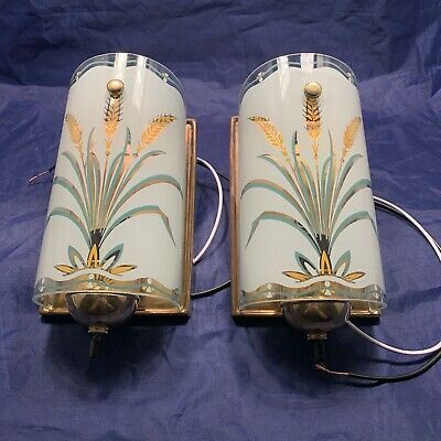 ReWired Pair Antique Art Deco Mid Century Wall Sconce Sconces 87B