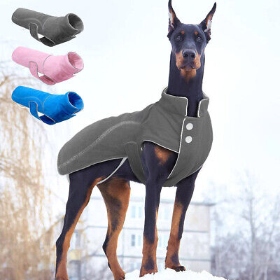 Dog Coats for X-Large Dogs Winter Fleece Pet Doggy Clothes Jacket Pitbull S-5XL