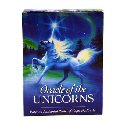 Unicorn Oracle Cards Deck Mysterious Tarot Cards Divination Fate Board Game US
