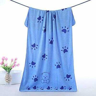 Cute Pet Bath Drying Towel Footprint Ultra Absorbent Dog Cat Large Robe Blanket