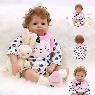"22"" Reborn Toddler Doll Realistic Handmade Silicone Vinyl Newborn Baby Xmas Gift"