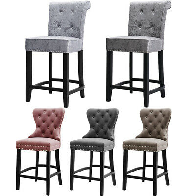 Upholstered Kitchen Breakfast Counter Chairs Bar Stools Barstools Stool Chair UK