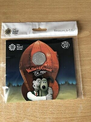 Royal Mint 2019 50p COIN WALLACE AND GROMIT 30TH ANNIVERSARY In Stock.
