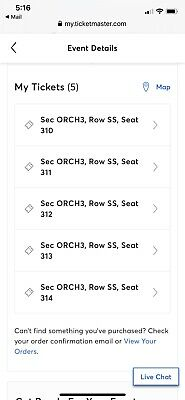 Radio City Christmas Spectacular 5 Orchestra Tickets 12/1/19 11:00am