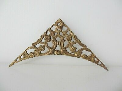 Vintage Brass Ormolu Hardware Top French Mount Old Antique Rococo Lady Face Head