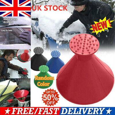 Magical Car Windshield Ice Snow Remover Scraper Tool Cone Shaped Round Funnel UK