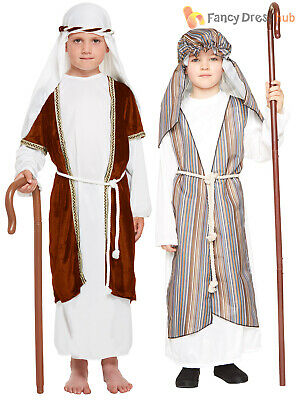 Kids Shepherd Joseph Innkeeper Nativity Costume Boys Christmas Fancy Dress