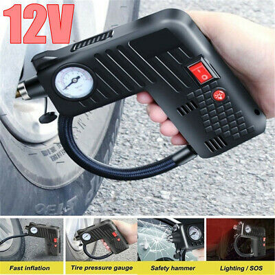 12V Portable  Auto Car Bike Tire Inflator Pump Air Compressor Cordless Electric