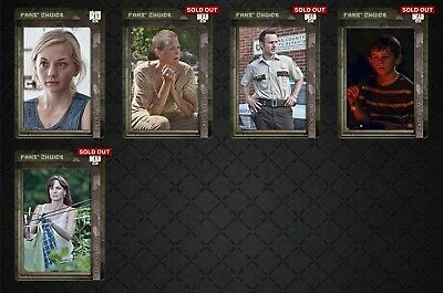TWD FANS' CHOICE III-B WAVE2 (5 CARD SET) Topps Walking Dead Digital Card Trader