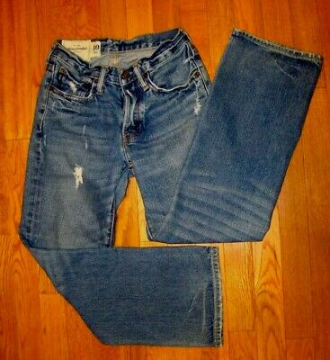 Abercrombie Fitch Jeans KILBURN LOW RISE Boot Cut Button Fly Womens 10 26x26 #98