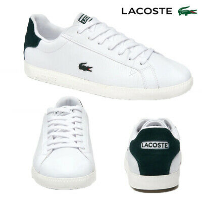 Lacoste Genuine Mens Graduate Leather White Trainers Tennis Court Sport Shoes