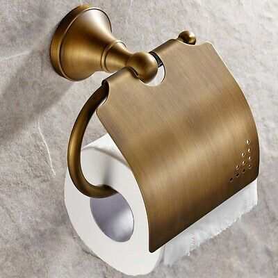 Antique Bathroom Accessories Brass Toilet Roll Paper Holder Lavatory Access T4S6