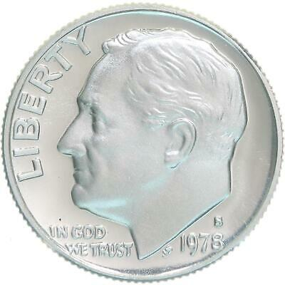 1989 S Roosevelt Dime Cameo Proof American 10 Cents Coin U.S