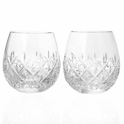 Waterford Crystal Astor Set of 2 (14 oz) Stemless Wine Glasses