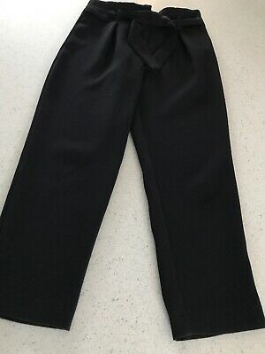 Girl's Black River Island Trousers - Aged 7 - Excellent Condition