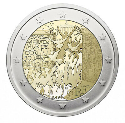 2 euro commémorative France 2019 - 30 ans de la chute du mur de Berlin