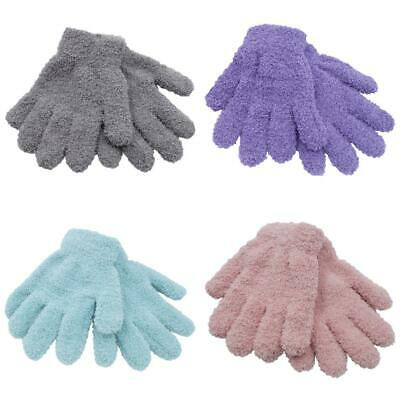 3 Pairs Girls Kids Undercover Thermal Snow Soft Magic Warm Winter Gloves