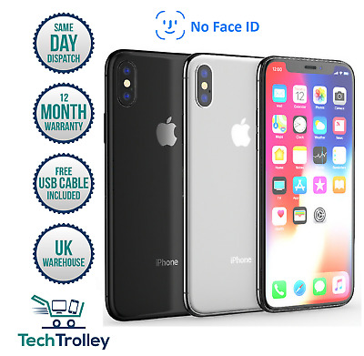 Apple iPhone X No Face ID 64GB 256GB UNLOCKED Space Grey Silver