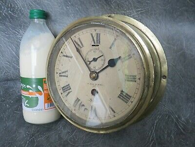 A GOOD WORKING SESTREL SHIPS CLOCK FOR S D SLIMON LEATH c1930 * SERVICED *