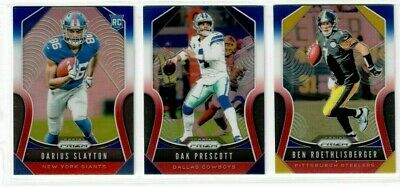 2019 Panini Prizm RED WHITE BLUE You Choose RC'S BRADSHAW RICE MAHOMES LAMAR +++