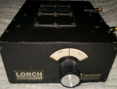 Lorch Microwave X3NF-800/1000-1S Tunable Notch Filter