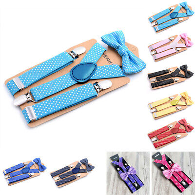 Children Suspenders Kids Wedding Suspenders Polka Dot Casual Stylish Clip On
