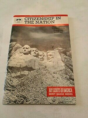 CITIZENSHIP IN THE NATION 1972 VINTAGE  BOY SCOUT  MERIT BADGE BOOK