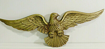 Vintage Brass Eagle, Mantal, Wall Decor Or Outdoors, American Eagle Wall Decor
