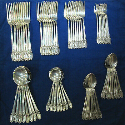 International Riviera 11pc Sterling Silverware Service for 8 w/ Serving - 109pcs