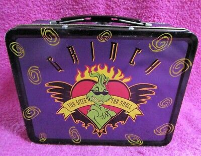 How The Grinch Stole Christmas Two Sizes Too Small Heart Lunch Box Tin 2000