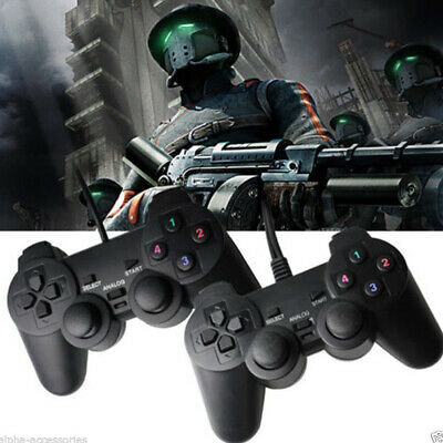 Wired Gamepad Game Controller Joypad USB2.0 for Laptop PC Computer Black W7L1S