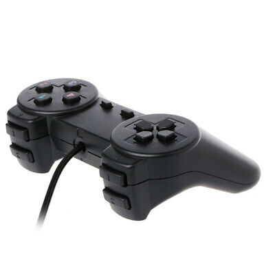 Wired Gamepad Game Controller Joypad USB for Laptop PC Computer PS1 Black E7L1G