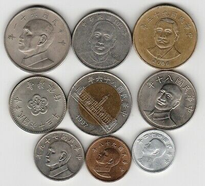9 different world coins from TAIWAN
