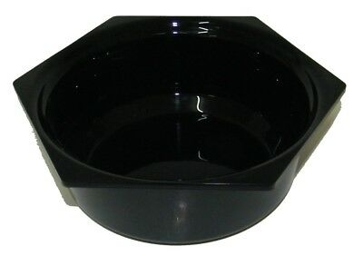 Presentation Plastic Shell Six Sided Rond Hexagonal 2 L Plexiline Black