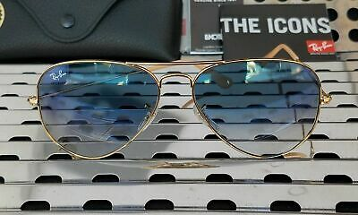 Ray Ban aviator 3025 001-3F Blue gradient Gold SIZE 58mm NEW