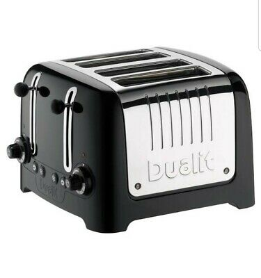 Dualit DPP4 2000W 4 Slice Lite Variable Wide Slot 8 Settings Toaster - Black New